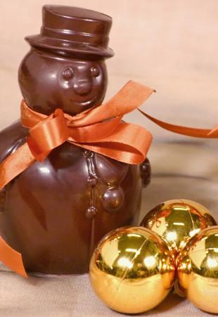 Bonhomme de neige en chocolat