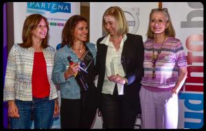 Bénédicte et Corine Demaret pour la catégorie entreprise et Sonia Emsheimer de Mikado Music pour la catégorie starter